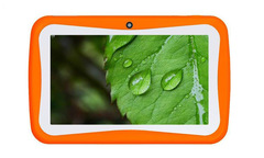 7 inch children's tablet computer learning camera wifi Android learning machine seven inch tablets orange