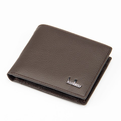 ELE Business Leather Leisur Zip Wallet Purse Paragraph Wallet  Soft Leather Wallet brown 12cm*9.5cm*2cm