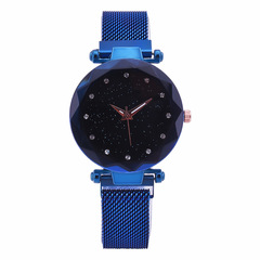 Starry Sky Watch Women Tidal rock Watch  Fashion watch magnet clasp Band Watch blue common