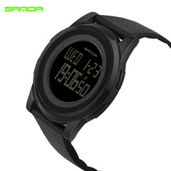 Fashion Wrist Watch Electronics Digital waterproof Sport Wristwatch For Men and women black common