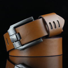 Buckle Belt Fashion Vintage Casual genuine leather Cowhide belt belts men luxury strap male pin brown common
