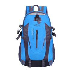 Men Backpack Unisex Mountaineering Bag Nylon Waterproof Bags Travel Backpacks Sports Bags blue 50cm*20cm*30cm