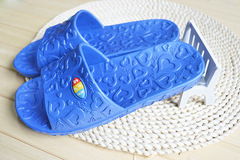 Bathroom Slippers Shoes Men and Women Indoor Home Slippers Non-slip Floor Slipper Sandal EVA sapphire blue 40