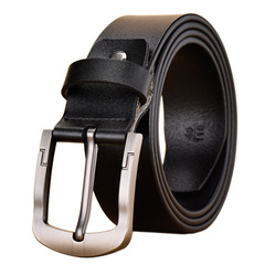 High quality men's genuine leather Cowhide belt belts men luxury strap male fashion pin buckle black common