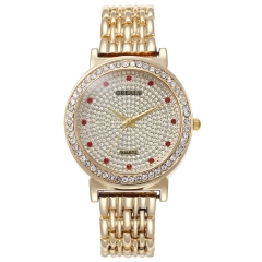 Women Watches Brand Rhinestone  Watch Wristwatches Ladies Classic Luxury Quartz Watch golden common