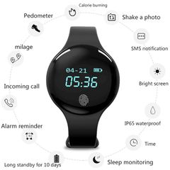 Touch Screen Smart Watch with Camera Bluetooth Waterproof  For Android IOS  Sleep Monitor black common