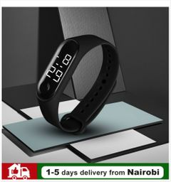 LED Smart Watches  Waterproof Watch Wristwatch Watch Digital Watch Sport Watch for Men and Women black common