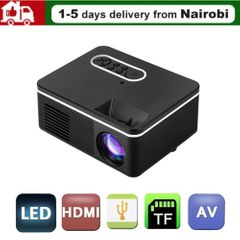 projectors hd projector Speakers projector phone TV Cinema Theater Led Mini Protable Wireless Gift black 13*9.7*5.8cm