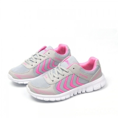 New Women Casual Sport Shoes Outdoor Air Mesh Sneakers Ladies Shoes Breathable Running Shoes grey 38