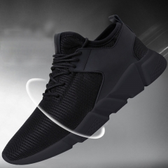 Men Sneakers Fashion Running Shoes Cool Shoe Breathable Sneaker Casual Lace-up Mesh Shoes black 40