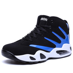 Men Women Air Cushion Basketball Shoes Wear-resistant Sneakers Athletic Sport Shoes Casual Sneaker blue 37