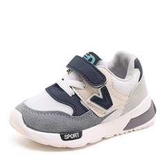 Kids Shoes for Boys Girl Children Casual Sneakers Baby Air Mesh Breathable Soft Running Sports Shoes grey 22
