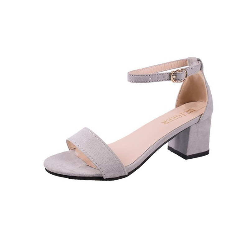 bd45f7abdd1 Women Sandals Summer Ankle Strap Heels Shoes Open Toe Chunky High Heels  Party Dress Sandals grey 34  Product No  9804020. Item specifics  Brand