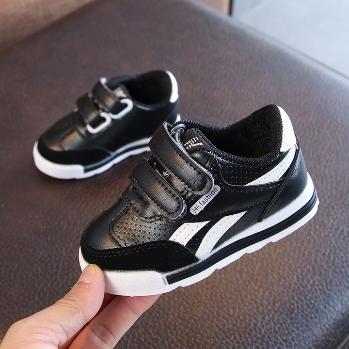 Children Shoes Sport Shoes Girls Shoes Breathable Running Shoes Boys Sneakers Non-slip Kids Shoe black 22