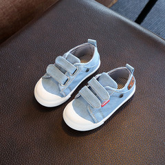Kids Shoes for Girls Boys Sneakers Jeans Canvas Children Shoes Denim Running Sport Baby Sneakers light blue 21