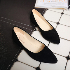 Women Loafers Soft Slip On Leather Flats Shoes Woman Solid Casual Single Shoe OL Office Shoes black 35