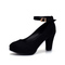Sexy Classic High Heels Women's Sandals Ladies Strappy Pumps Platform Heels Woman Ankle Strap Shoes black 35