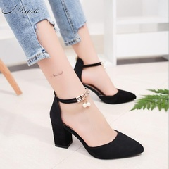 2019 Summer Women Pointed Toe Pumps Dress Shoes High Heel Shoes black 34