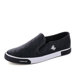 2019 Men Breathable Casual Doug Shoes Slip-on Flat Loafers black 39