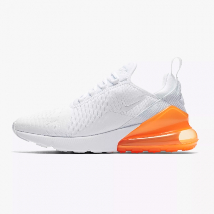 NIKE AIR MAX 270 Black and White MEN'S SPORTS RUNNING SHOES WOMEN'S SNEAKERS White and Orange 36EUR