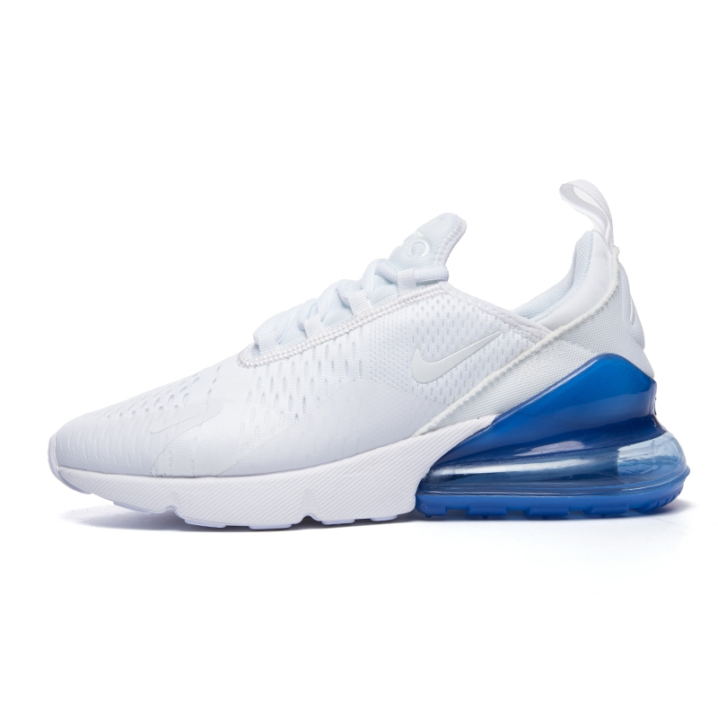 Men's Nike Air Max 270 Casual Shoes WhiteMetallic Silver