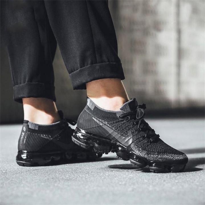 super popular 03d47 1b28e 2018 Nike Air VaporMax Flyknit Black and White MEN'S SPORTS RUNNING SHOES  WOMEN'S SNEAKERS black 38eur