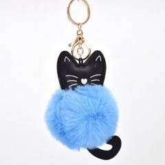 New pet kitten fur ball key fastener lady bag car fur key fastener Pendant