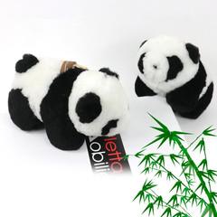 Panda doll pendant compound sheep shearing velvet handmade DIY accessories car bag key chain