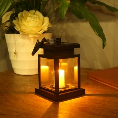 Solar  candle lamp garden pendant lamp  for waterproof LED umbrella lamp garden light black 0.12w