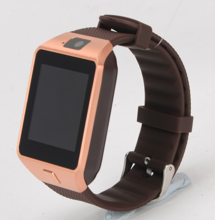 Bluetooth smart watch dz09 Wristband Android Watches Smart SIM Mobile Phone with camera gold 1.56inch screen