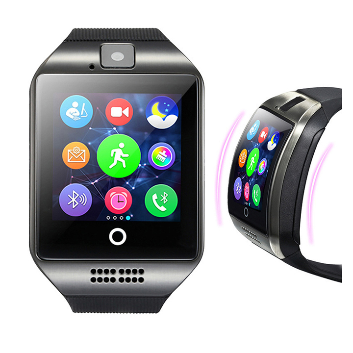 For huawei TECNO phone Bluetooth Smart Watch Q18 Mini Camera For Smart Phones SIM Card Touch Screen white 1.54inch screen