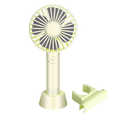 handheld small mini USB electric fan Rechargeable student dormitory Office portable fan 1200mah green