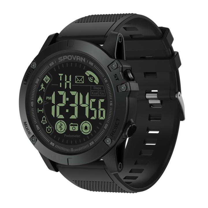 SmartWatch Waterproof Step Monitor Bluetooth Smart watch Men Outdoor wristwatch black 1.5inch screen