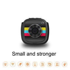 Mini wireless car camera 1080 HD car camcorder action Video record dash cam monitor white 2MP 1080P