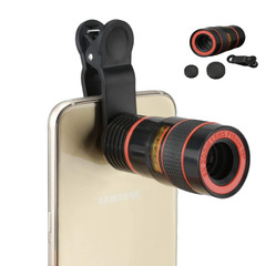Universal 8X Optical Zoom HD Telescope  Lens Telephoto External Smartphone Camera Lens for Mobile black 8x