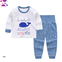 XLIN Baby Boys Girl'S Summer Cotton  T-Shirt Cartoon Outfits Set Tops+Pants G01 73cm