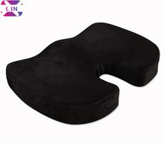 XLIN Memory Foam Chair Seat Cushion -for Home Office Chair, Car Seat, Wheelchair etc.--BLACK