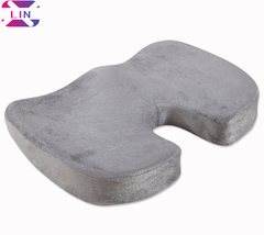 XLIN Memory Foam Chair Seat Cushion -for Home Office Chair, Car Seat, Wheelchair etc.--GRAY