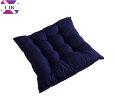 Square Thicken Dining Chair Cushion, Tatami Computer Soft Comfortable Seat Pads -NAVY BLUE 40x40 cm