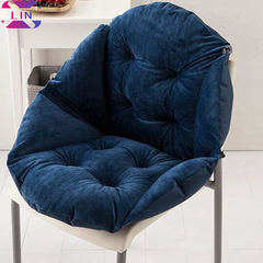 XLIN Soft Seat Cushion Back Cushion Surrounded By Lovely Office Chair Shell Cushion--NAVY BLUE