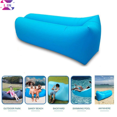 XLIN Inflatable Lounger Couch with Carry Bag Beach Lounger Air Sofa Inflatable Couch Bed SKY BLUE set