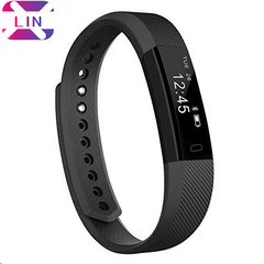 XLIN Fitness Tracker, Smart watch with Sleep Monitor Bluetooth 4.0 Waterproof Smart Wristband Black One
