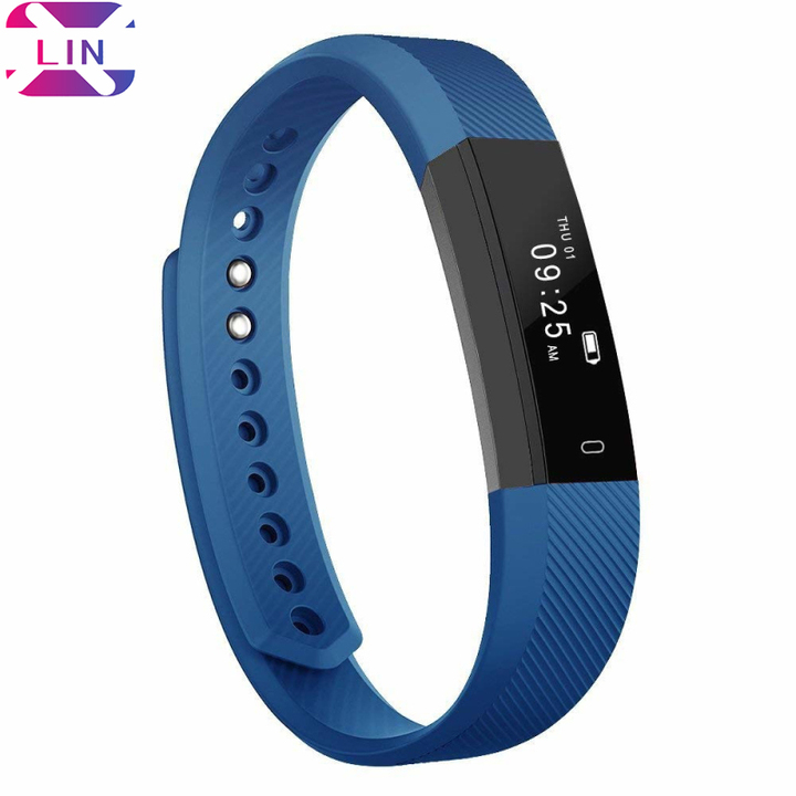 XLIN Fitness Tracker, Smart watch with Sleep Monitor Bluetooth 4.0 Waterproof Smart Wristband Navy blue One