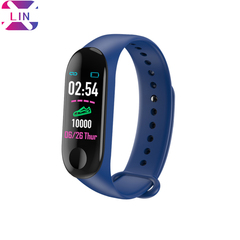 XLIN Smart Bracelet M3 Sports Waterproof Blood Pressure Step Counter Fitness Digital Smart Bracelet navy blue one