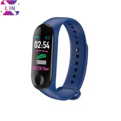 XLIN Smart Bracelet M3 Sports Waterproof Blood Pressure Step Counter Fitness Digital Smart Bracelet navy blue one