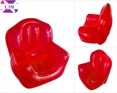 XLIN Brand Inflatable Fashion Sofa Single Transparent Sofa ---Send Foot Pump,Repair Kit Accessories RED