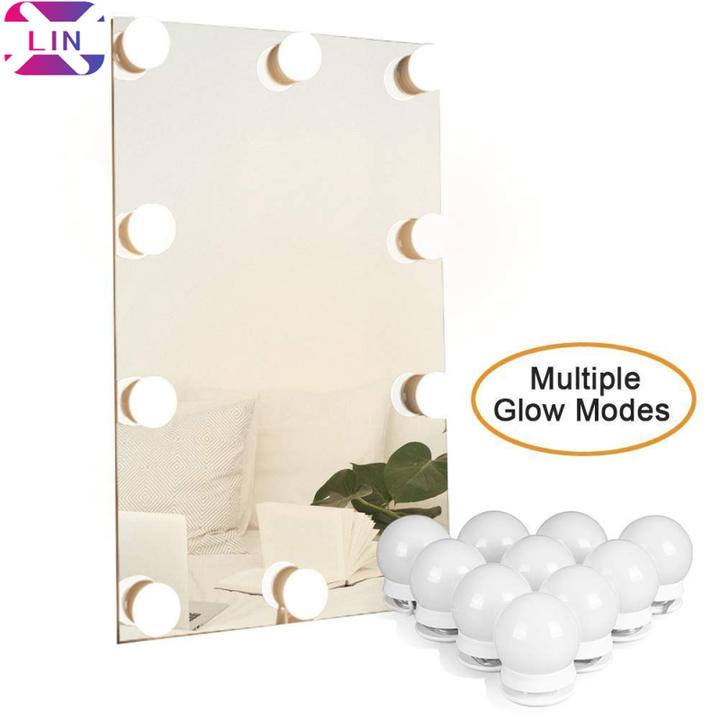 Hollywood DIY Vanity Lights Strip Kit for Lighted Makeup Dressing Table Mirror Plug in LED Lighting Multiple Color Tones 1SET(10 Light) 1W/PCS*10PCS