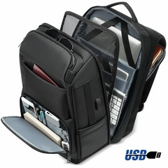 17 Inch Laptop Backpack Men Anti-thief Design USB Charging Port Water Repellent Multi-layer Storage black 47*31*20cm