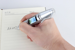 Miniature flashlight pen miniature Bluetooth spare cell phone silver