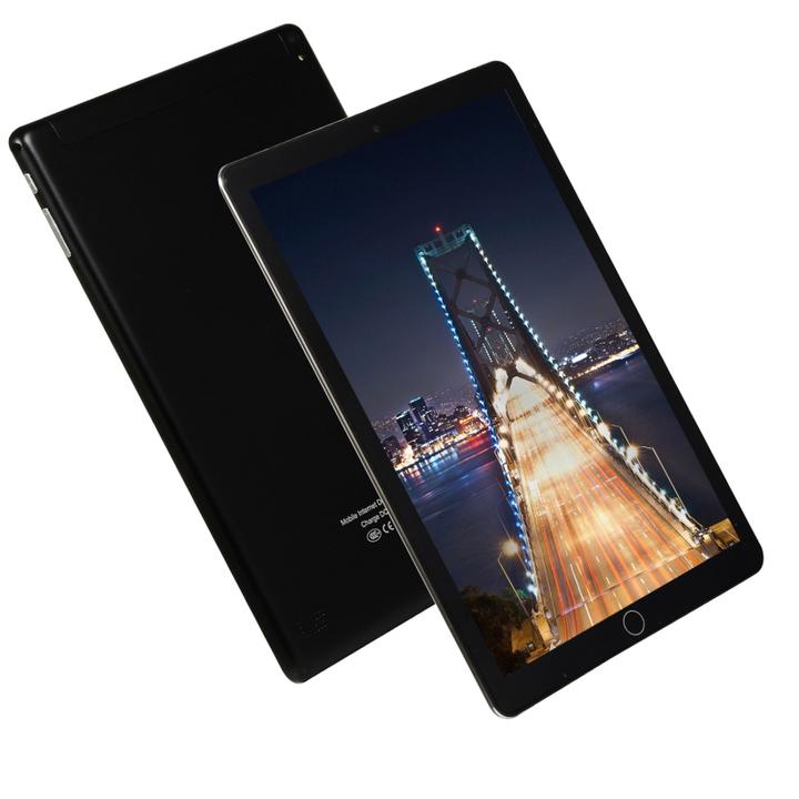 10.1inch Tablet PC Android8.1 Quad Core HD WIFI Dual Sim 3G Phablet black US PLUG